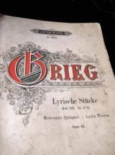ANTIQUE SHEET MUSIC BOOK GRIEG LYRISCHE STUCKE OP65 HEFT VIII PETERS 2859B 1897